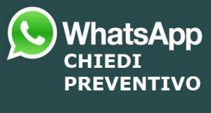 Whatsapp chiedi preventivo